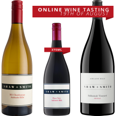 Online Tasting Pack - Shaw and Smith with David LeMire MW Thursday 19th August 6:30pm aest