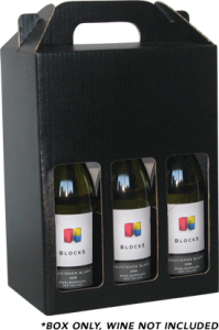 Gift Box Six Bottle Carry Pack - With Windows