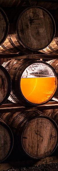 Glenmorangie barrells with whisky