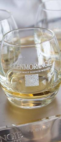Glenmorangie glass with whisky